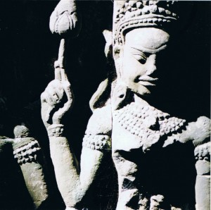 Apsara: female spirit, dancer and muse (Angkor complex)